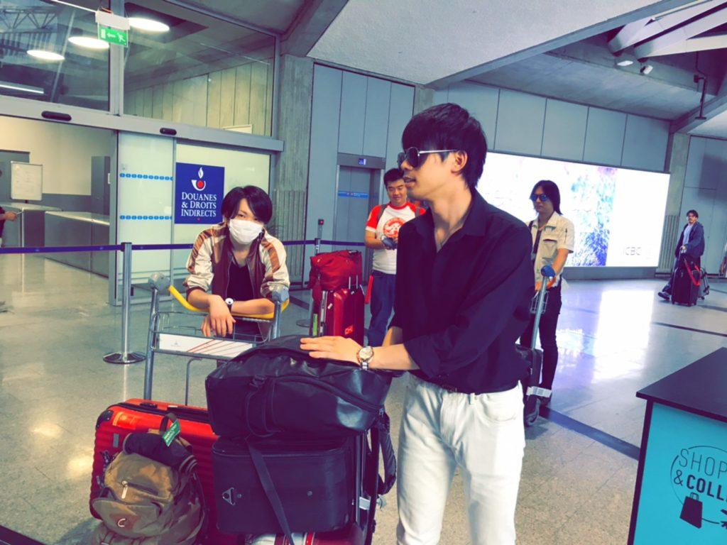 仁川空港で乗り換えの様子
