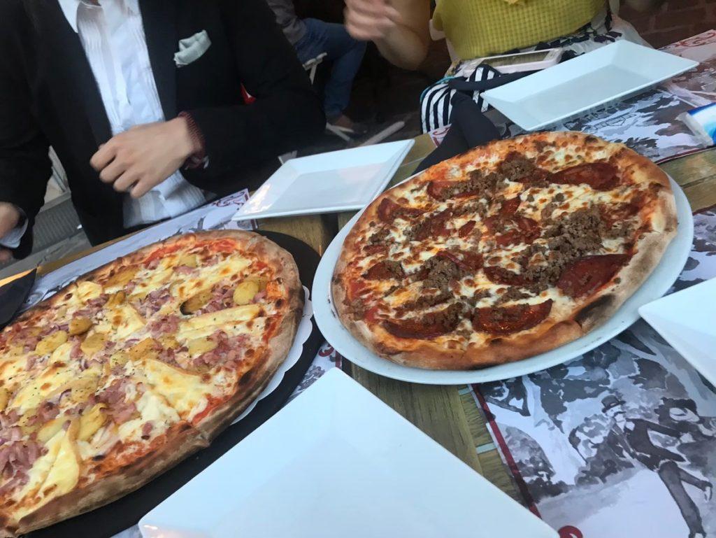 フランスのピザの画像